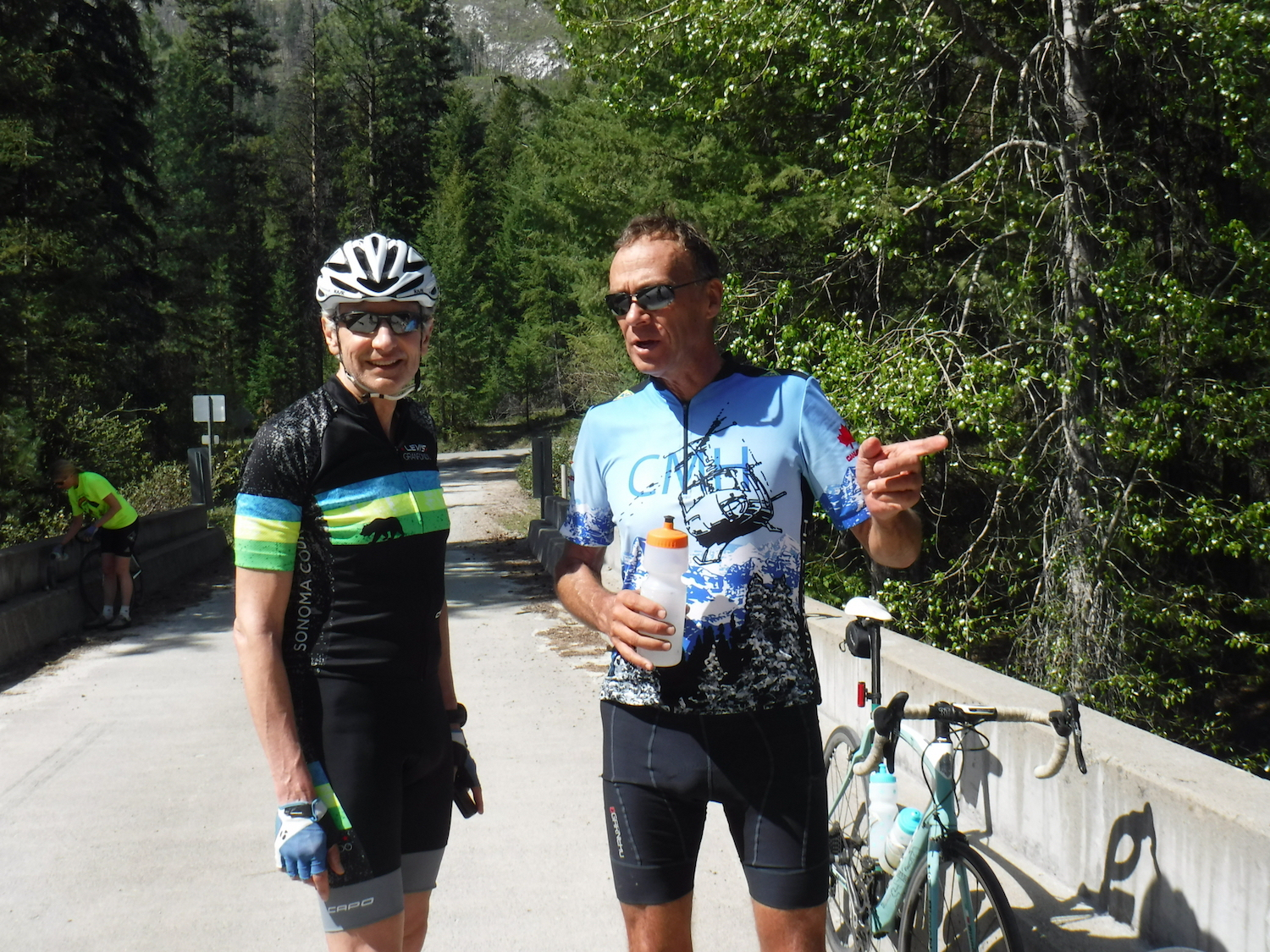 Stephen and Mike on Andrews Creek Road